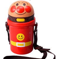 Anpanman water bottle with straw