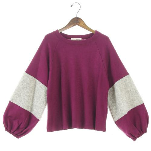 Soft punch sleeve top - Wine