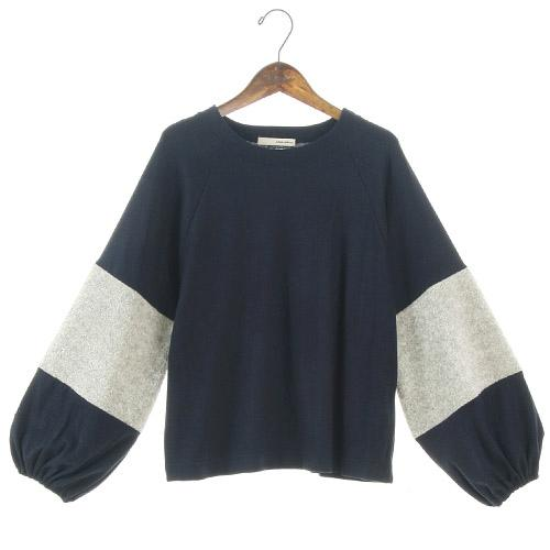 Soft punch sleeve top - Blue