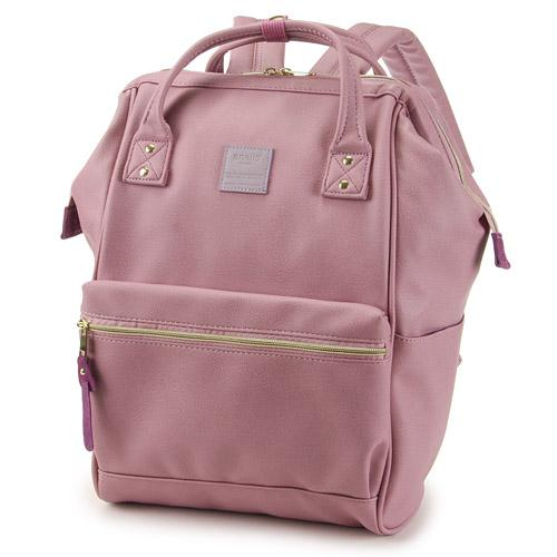 ANELLO Japan Synthetic Leather Mouthpiece Backpack - Lavender AT-B1211