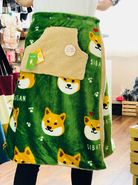 FRIENDSHILL SIBATASAN Wrap Skirt EK-10-40 Green