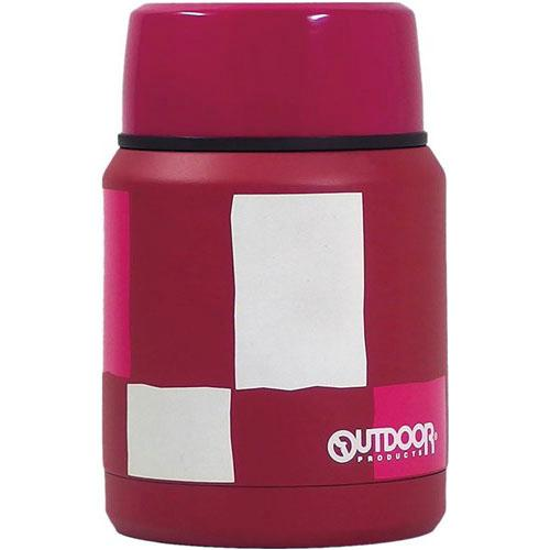 Outdoor stainless steel food container - Pink