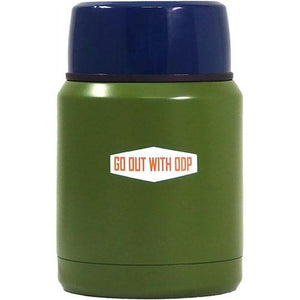 Outdoor stainless steel food container - Moss green