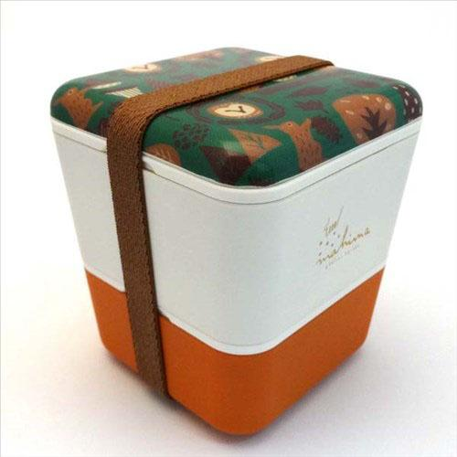 Double decker lunch box - Camel
