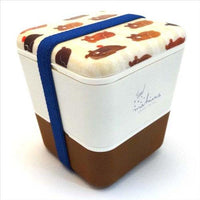 Double decker lunch box - Brown