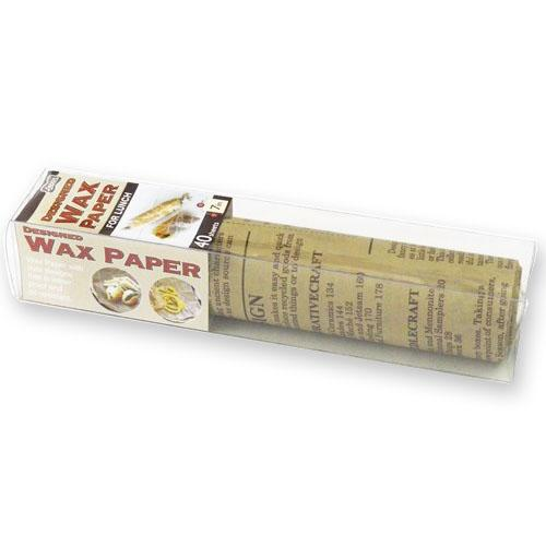Designed Wax Paper 40 sheets 18cm x 18cm - Brown