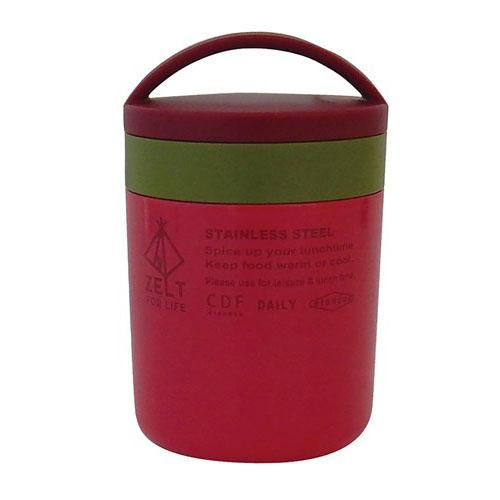 Zelt stainless steel food contianer - Small Red