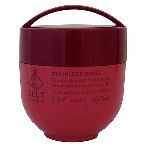 Zelt stainless steel food container - Large red