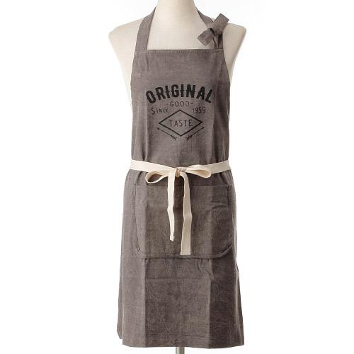 Indigo Apron  - Brown