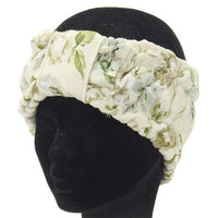 Bath Hair Band - Beige flower