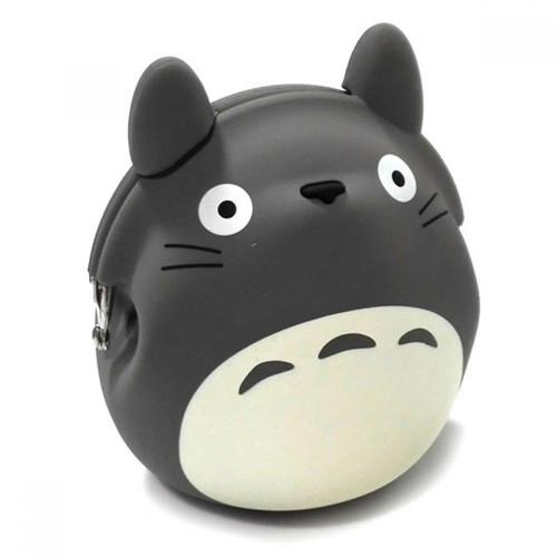 My Neighbor Totoro Silicone Coin Bag by 3D POCHI FRIENDS - Grey