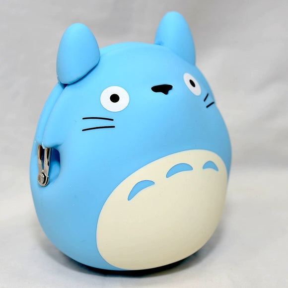 My Neighbor Totoro Silicone Coin Bag by 3D POCHI FRIENDS - Blue