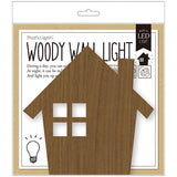 LED woody wall night - House