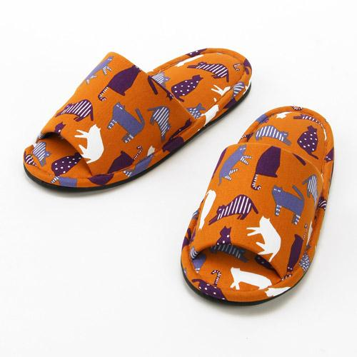 Cat Pattern Slipper - Orange