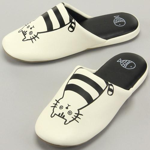 Slippers Cat - White