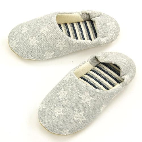 Star pattern slipper - Grey