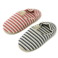 Stripe Pattern Slipper - Red