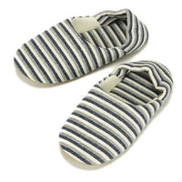 Stripe pattern slipper - Sky blue