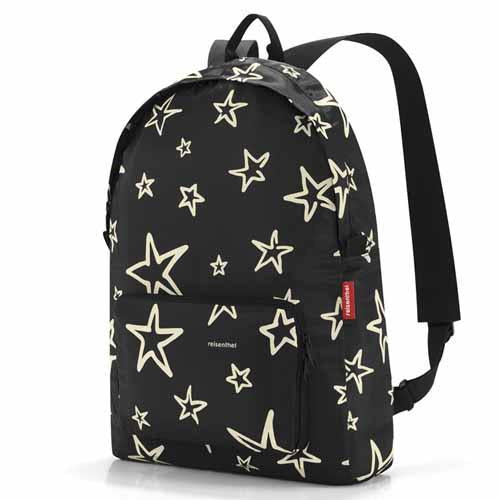 REISENTHEL Mini Maxi Backpack/Rucksack  - Black Stars