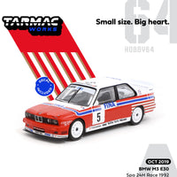 Preorder Tarmac BMW M3 E30   Spa 24hours Race 1992 Winner Soper / Martin / Danner (Decal included) T64-009-92SPA05