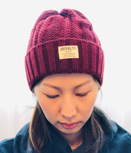 BROOKLYN NYC Beanie - RED 2018-CR51015-WI