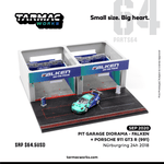 Tarmac Works 1/64 Pit Garage Diorama - FALKEN T64D-001-PS Include exclusive model Porsche 911 GT3 R (991) Nürburgring 24h 2018 (T64-032-18NUR44)