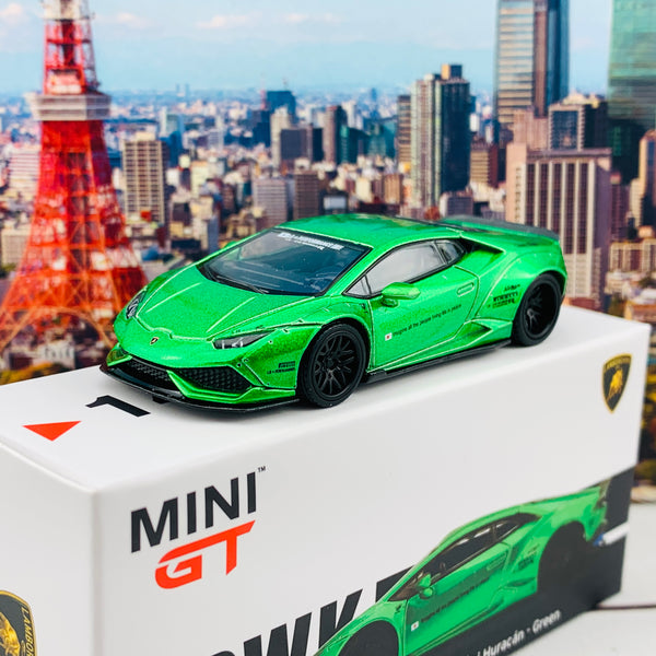 MINI GT 1/64 LB WORKS Lamborghini Huracan Version 2 Green LHD MGT00149-L
