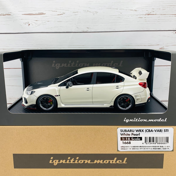 Ignition Model 1/18 SUBARU WRX (CBA-VAB) STI White Pearl IG1668