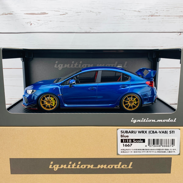 Ignition Model 1/18 SUBARU WRX (CBA-VAB) STI Blue IG1667