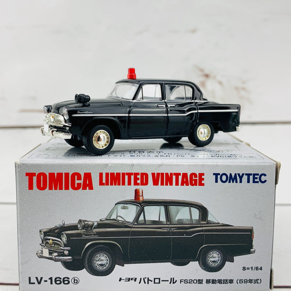 Tomica Limited Vintage 1/64 Toyota Toyopet Patrol FS20 Mobile Phone Vehicle (1959) LV-166b