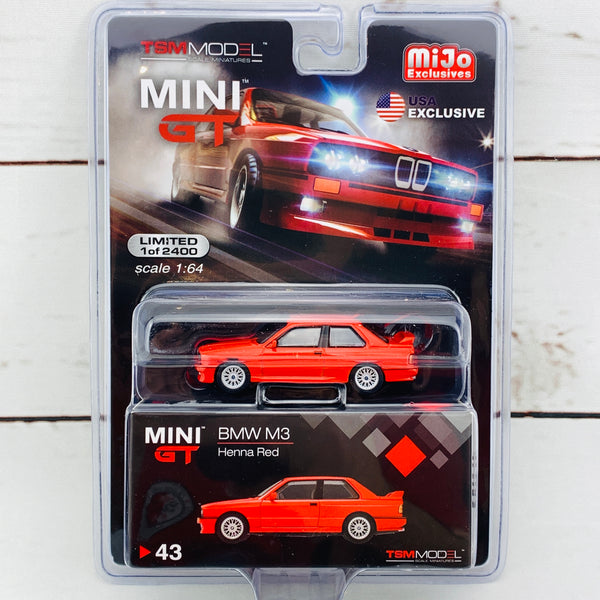 MIJO Exclusives Mini GT 1/64 BMW M3 E30 Henna Red MGT00043-MJ