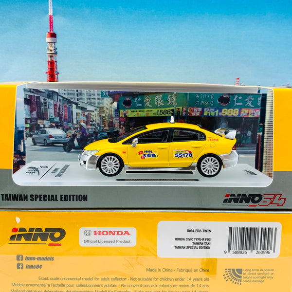 INNO64 1/64 Honda Civic Type-R FD2 Taiwan Taxi IN64-FD2-TWTS