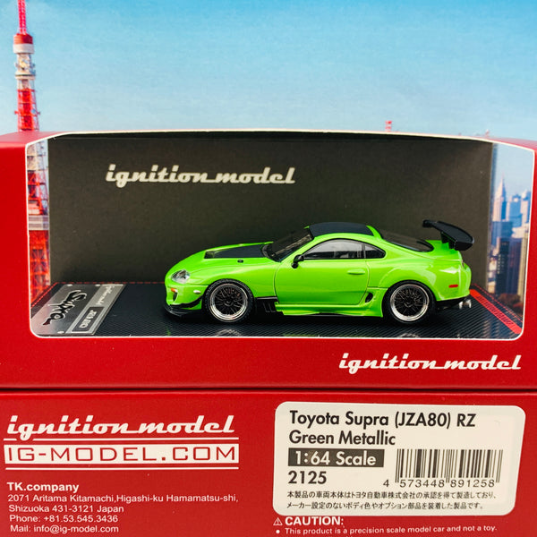 Ignition Model Event Special 1/64 Toyota Supra (JZA80) RZ Green Metallic IG2125