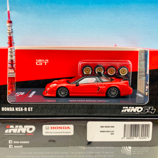 INNO64 HONDA NSX-R GT Hong Kong Special Edition RED with Extra Wheels IN64-NSXRGT-RED