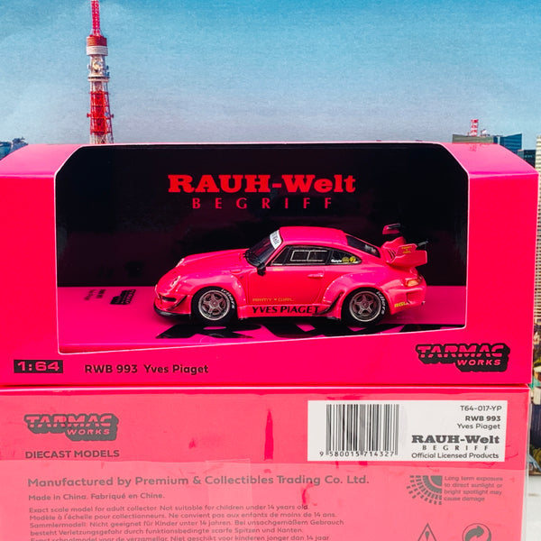 Tarmac Works 1/64 Hobby Collection RWB 993 Yves Piaget with Silver Rims T64-017-YP