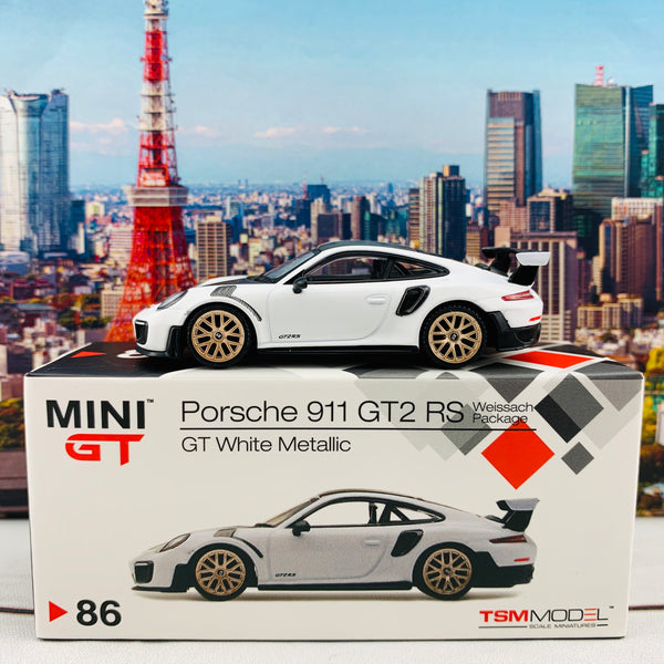 MINI GT 1/64 Porsche 911 GT2 RS Weissach Package White RHD MGT00086-R