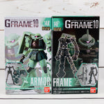 GFRAME 10 Mobile Suit Gundam 14A' REVIVE MS-06F ZAKUII Armor Set and 14F' REVIVE MS-06F ZAKUII Frame (02) Set
