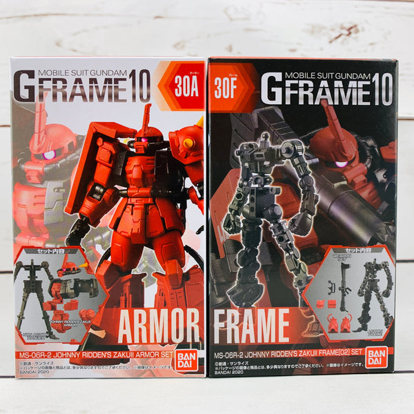 GFRAME 10 Mobile Suit Gundam 30A MS-06R-2 JOHNNY RIDDEN'S ZAKUII Armor Set and 30F MS-06R-2 JOHNNY RIDDEN'S ZAKUII Frame (02) Set