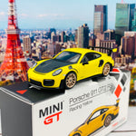 MINI GT 1/64 Porsche 911 GT2 RS Racing Yellow LHD MGT00136-L