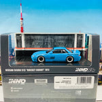 INNO64 1/64 NISSAN SILVIA S13 ROCKET BUNNY V1 Light Blue IN64-S13V1-LBL