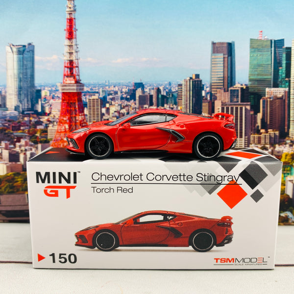 MINI GT 1/64 Chevrolet Corvette Stingray 2020  Torch Red LHD MGT00150-L