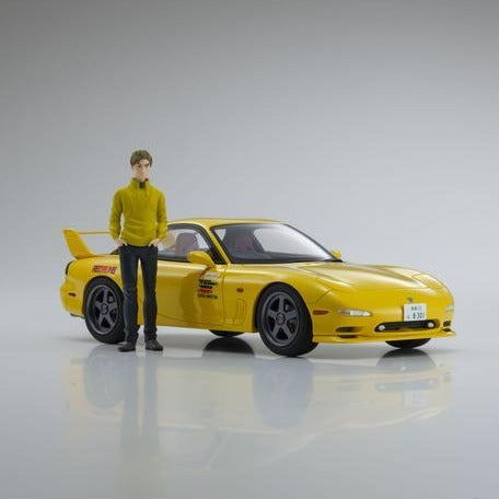 PREORDER KYOSHO 1:18 New Initial D the Movie Edition Mazda RX7 FD3S with Keisuke Takahashi Figure 高橋 啓介 KSR18D02-B (Approx. Release Date : May 2020 and subject to the manufacturer's final decision)