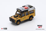 PREORDER MINI GT 1/64 Land Rover Defender 110 1989 Camel Trophy Winner RHD MGT000108-R (Release in Feb 2020)