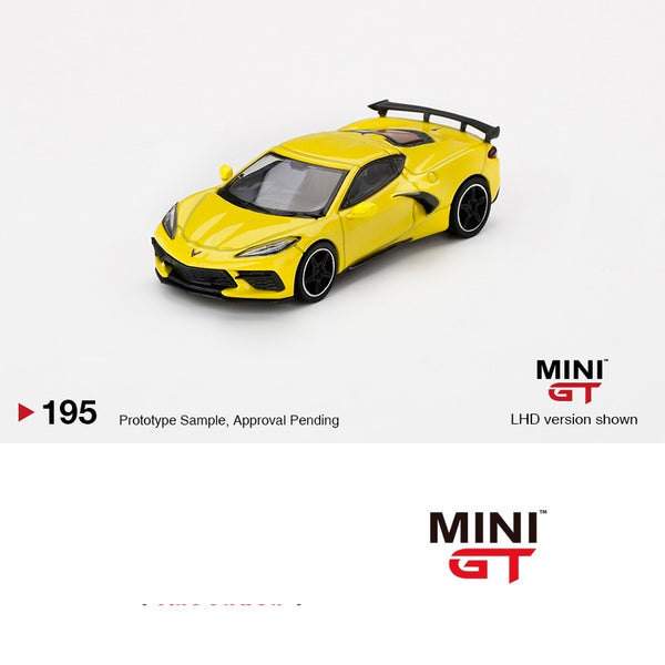 MINI GT 1/64 Chevrolet Corvette Stingray 2020 Accelerate Yellow LHD MGT00195-L