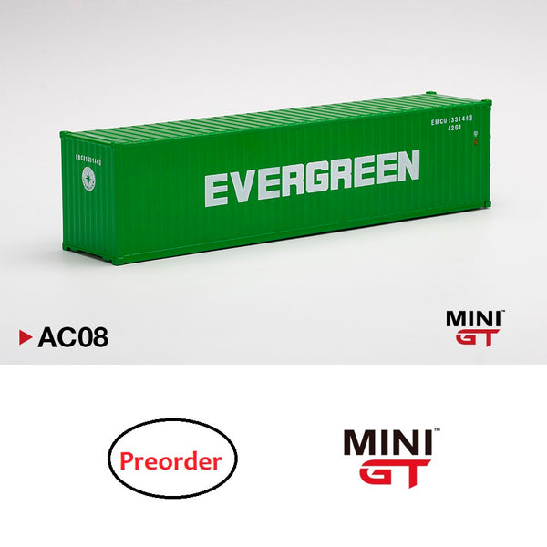 "MINI GT 1/64 Dry Container 40' ""EVERGREEN"" MGTAC08"