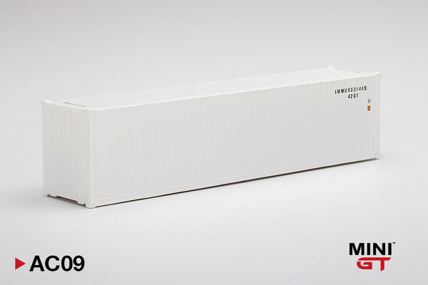 MINI GT 1/64 Dry Container 40' White MGTAC09