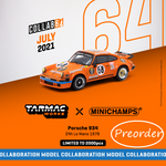 PREORDER Tarmac Works x MINICHAMPS COLLAB64 1/64 Porsche 934 24h Le Mans 1978 #68 *** Limited to 2000pcs *** T64MC-003-JAG (Approx. Release Date : July 2021 subject to manufacturer's final decision)