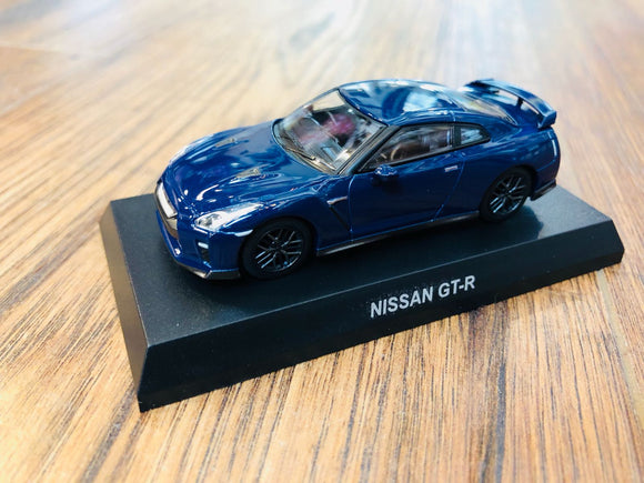 KYOSHO 1/64 NISSAN GT-R - Deep Blue Pearl