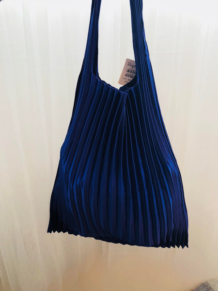 Japanese Vertical Pleats Bag - Purple