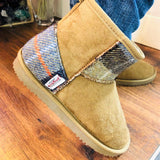Harris Tweed Boots Camel Large